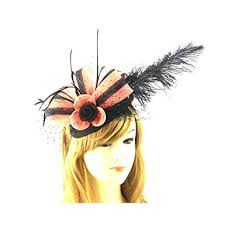 3M Ladies Women's <b>Fashion</b> Designer <b>Fascinator Hat</b> Clip <b>Feather</b> ...