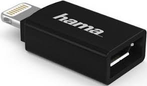 <b>Адаптер Hama H-178400</b> micro USB (f)-Lightning черный ...