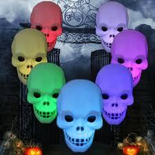 Festivil Flash Skull Grimace <b>LED Lantern Halloween</b> Night Light ...