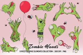 <b>Zombie Hands</b> Elements Collection (181861) | Illustrations | Design ...