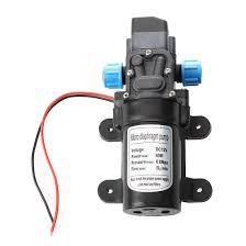 Black DC 12V 60W high-pressure mini membrane water pump ...