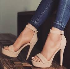 <b>Hot Selling Beige</b> Suede <b>Women</b> Square Heels Sandals Cut-out ...