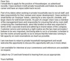 housekeeper cover letter example   learnist org