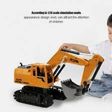 <b>2.4G</b> 1:24 Alloy Excavator Toy Wireless <b>Remote Control</b> Car ...