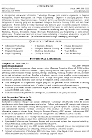 it manager resume exampleit manager resume example program manager