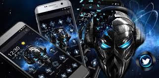 Blue Tech Metallic <b>Skull</b> Theme - Apps on Google Play
