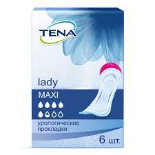 <b>Прокладки урологические</b> Tena <b>Lady Maxi</b> 6 шт — купить в ...