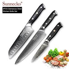 <b>SUNNECKO Utility Chef</b> Knife 3PCS Kitchen Knives Set Japanese ...