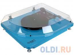 <b>Виниловый проигрыватель ION</b> Pure LP Blue c функцией ...