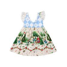 <b>pudcoco Kids Baby</b> Girls Christmas <b>Cartoon</b> Flying Sleeves Princess ...