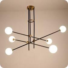 <b>Nordic Glass Ball Pendant</b> Light Creative Hanging Pipe Droplight ...