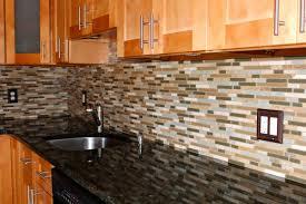 glass mosaic tile backsplash cozy mosaic kitchen tile backsplash design with wooden cabinet