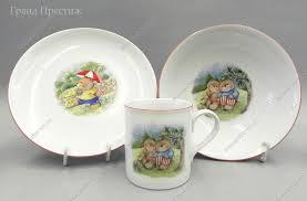 Детский <b>набор посуды</b> 3 предмета фарфоровый в Москве ...