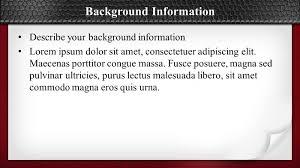 describe your background essay