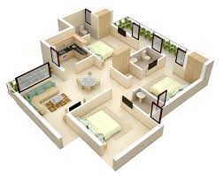 "Three "" "" Bedroom Apartment House Plans   Architecture  amp  Design  small   bedroom floor plans"