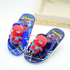 <b>Boys Slippers Summer Cartoon</b> Spider-Man Baby Indoor Sandals ...