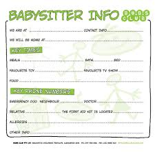 best images of babysitting chart printable babysitting babysitting coupon template
