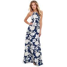 2019 <b>Sexy Women</b> Maxi Boho <b>Dress</b> Halter Neck <b>Floral</b> Print ...