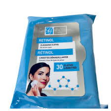 Facial Wipes Cleansing <b>2</b> packs Charcoal/Retinol/Cocoa/Collagen ...