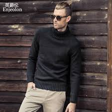 Enjeolon brand winter Turtleneck knitted pullover wool Sweaters ...