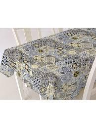 <b>Скатерть ALBA</b> Мозаика син. <b>120х140</b> см (шт.) Protec Textil ...