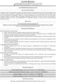 law enforcement and security resume samplesresume samples for security and law enforcement jobs