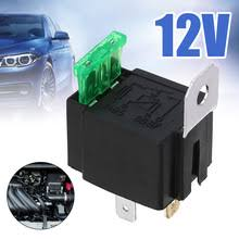 Black 4-Pin DC 12V 30A Car Normally Open Contacts Fused Relay ...