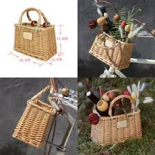 <b>Tourbon Vintage Cycling Bike</b> Front Handlebar Basket Wicker ...