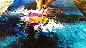 <b>Abstract painting</b> / How to <b>paint abstract painting</b> and texture the ...