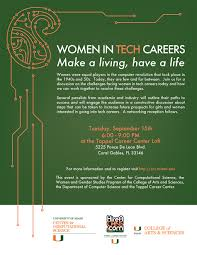 women in tech careers event offered insight and direction the women in tech careers flyer