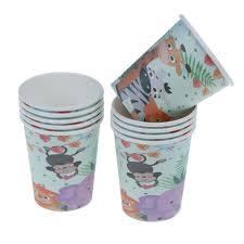 <b>10pcs</b> Safari theme paper cups <b>disposable</b> cups <b>kids</b> birthday party ...