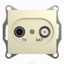"<b>Розетка телевизионная Schneider Electric</b> ""Glossa"", TV-SAT ..."