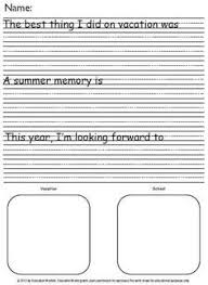 activities  summer and lesson plans on pinteresthow i spent my summer vacation printable