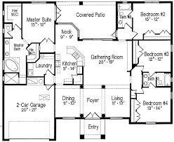 Split Bedroom One Story Living   MJ   st Floor Master Suite    Floor Plan