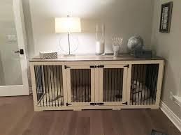 dog kennel furniture farmhouse grey top furniture style dog crates