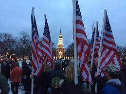 the dartmouth review acirc retrospective on the flag burning american flags fly by the light of a dartmouth sunset