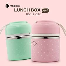 WORTHBUY Cute Japanese <b>Thermal Lunch Box</b> Leak Proof ...