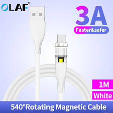 <b>Olaf 3A 540 Rotate</b> Magnetic Fast Charging Micro USB Type C ...