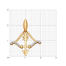 <b>Подвеска</b> «Знак зодиака <b>Стрелец</b>» с фианитами <b>SOKOLOV</b> ...