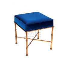 cafe lighting and living clara velvet stool royal blue cafe lighting and living