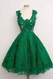 <b>2018 Emerald Green Cap</b> Sleeve Scoop Neck A Line Knee Length ...