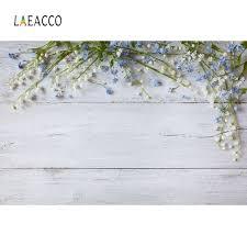 <b>Laeacco</b> Gray <b>Wooden Board</b> Flowers Floret Petal Food Pet Doll ...