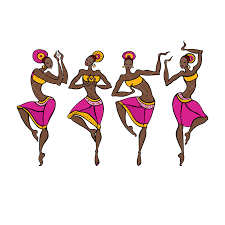 Dancing woman in <b>ethnic style</b>. Graphic Vector - Stock by Pixlr
