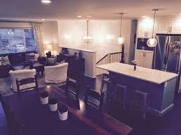 split level renovation ideas open concept floor plan bc box renovation white kitchen west elm lighting
