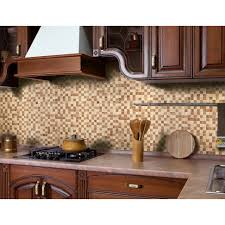 stick wall tiles quotxquot: home decor large size instant mosaic natural stone peel stick in dark brown amp