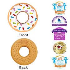 Silli Chews Vanilla Donut (Doughnut) <b>Teether</b> Favorite <b>Happy Baby</b>
