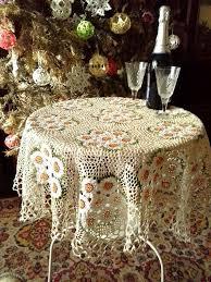 Crochet tablecloth Handmade tablecloth <b>Home decor</b> Crochet lace ...