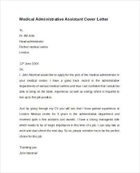medical administrative assistant cover letter executive assistant cover letter