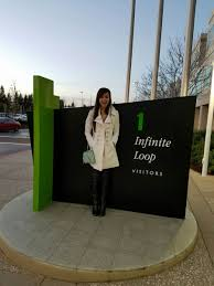 the pros and cons of traveling for work jsom perspectives michelle ing the apple campus in cupertino while in california for a client