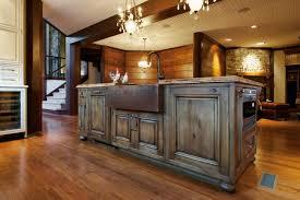 rustic kitchen island:  plush kitchen island rustic kitchen with rustic kitchen island this inviting open plan kitchen